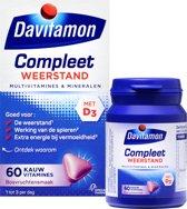 Davitamon Compleet Kauwvitamines - multivitamine - bosvruchten - 60 tabletten