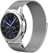 Milanees Bandje Zilver voor Samsung Gear S3 en Galaxy Watch 46MM – Milanese RVS Armband Silver