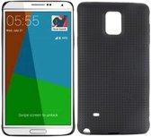 Samsung Galaxy Note 4 - hoes cover case - TPU - Mesh - zwart