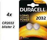 Duracell CR2032 Lithium Batterijen 3V - 4 x 2 blister
