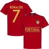Portugal Ronaldo 7 Team T-Shirt - Rood - L