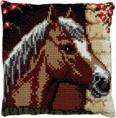 kruissteekkussen 003.147 paardenhoofd