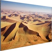 Namibie Woestijn Aluminium 90x60 cm - Foto print op Aluminium (metaal wanddecoratie)