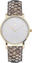 IKKI JAMY JM18 Horloge - Bruin python/goud