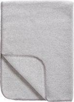 Meyco Basic Uni Wiegdeken - Grijs/Melange 75x100 cm
