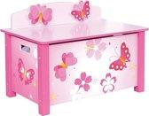 Speelgoedkist Vlinder Roze