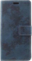 Shop4 - Samsung Galaxy S9 Hoesje - Wallet Case Vintage Blauw