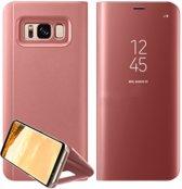Mirror flip case / spiegel bookcover - Samsung Galaxy S7 - rosé goud