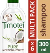 Timotei Pure Nourished & Light - 6 x 300 ml - Shampoo - Voordeelverpakking