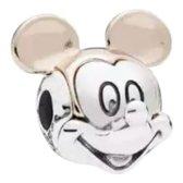 Zilveren bedel Disney | Bedel Mickey Mouse Rose | Bedels Charms Beads | 925 sterling silver | net zo waardevol als pandora maar dan goedkoop | direct snel leverbaar | Tracelet