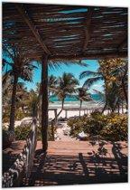 Dibond – Tropisch Strand– 40x60cm Foto op Dibond;Aluminium (Wanddecoratie van metaal)