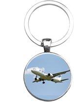 Sleutelhanger Glas - Vliegtuig