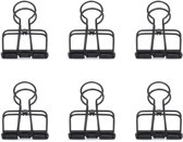 Black Wire Clips Set Of 6