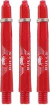 BULL'S BULL'S Glowlite shaft rood kort + Ring