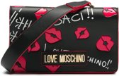 Love Moschino Borsa Digital Print Heuptas - Zwart / Rood