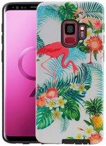 Flamingo Design Hardcase Backcover voor Samsung Galaxy S9
