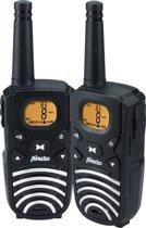 Alecto FR-50 Portofoon Twinset 8km | Bereik tot 8km en met FM radio | Zwart