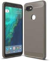 Google Pixel 2XL hoesje - Rugged TPU Case - grijs