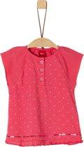 S Oliver Meisjes T-Shirt - roze - Maat 62