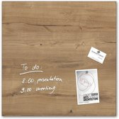 Glas-magneetbord sigel 480 x 480 x 15 mm natural wood