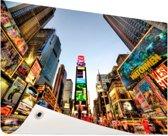Times Square in New York Tuinposter 200x100 cm - Tuindoek / Buitencanvas / Schilderijen voor buiten (tuin decoratie) XXL / Groot formaat!