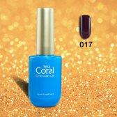 SeaCoral One Step No Wipe Gellak, Gel Nagellak, GelPolish, zónder kleeflaag,UV en LED, kleur 017