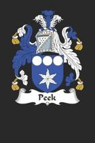 Peek: Peek Coat of Arms and Family Crest Notebook Journal (6 x 9 - 100 pages)