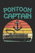 Pontoon Captain: funny boaters or boat driving lovers gift Notebook / journal