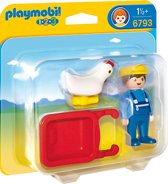 Playmobil 123 Boer met kruiwagen - 6793