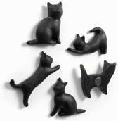 Magneet Zwarte Katten MEOW (Neodymium)