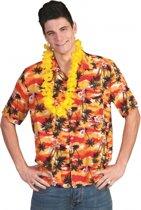 Hawaii shirt rood/oranje 56-58 (2xl/3xl)