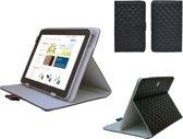 Diamond Class Case, Hoes met ruitpatroon voor Lexibook Tablet Ultra, Designer Hoesje, zwart , merk
