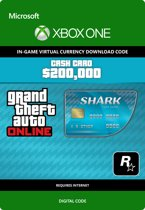 Grand Theft Auto V - Tiger Shark Cash Card $ 200.000 In-Game Virtual Currency - Xbox One
