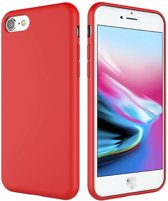 Hoesje voor Apple iPhone 7 / 8 - matte TPU cover - Rood / Red