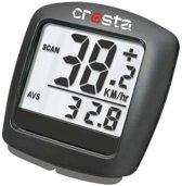Cresta PFC213 - Fietscomputer - Bedraad - 12 Functies - Zwart