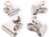 TF-FW4000 Chrom-Effekt-magnetische Griff-Clips, 4-er Pack, Metall