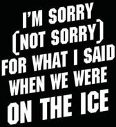 I'm Sorry (Not Sorry) for What I Said When We Were on the Ice