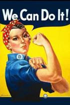 We Can Do It!: Vintage Rosie Riveter WWII Artwork on Cover-Perfect Notebook for All Writing Needs-100 Lined Pages-Perfect Gift
