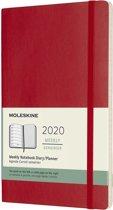 Moleskine 12 Maanden Agenda 2020 - Wekelijks - Large (13x21 cm) - Scarlet Red - Zachte Kaft