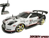RC Race Auto -RC Drift Race Car 4x4 wielaandrijving - 30 km/u l 1:10 Black Shadow