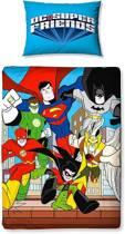 DC Comics Super Friends - Dekbedovertrek - Eenpersoons - 120 x 150 cm - Multi