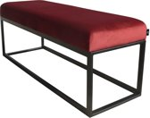 Couchy hocker bankje Velvet Bordeauxrood