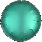 Folieballon - Rond Turquoise Matte - 43 Centimeter