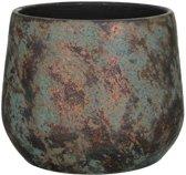 Mica Decorations clemente ronde pot koper maat in cm: 25,5 x 32