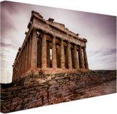Het Parthenon Canvas 60x40 cm - Foto print op Canvas schilderij (Wanddecoratie woonkamer / slaapkamer) / Steden Canvas Schilderijen