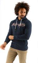 Jack & Jones JorAuthentic hooded sweater donkerblauw_M, maat M