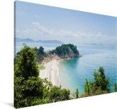 Uitzicht op de zee en de witte stranden van Naoshima Canvas 120x80 cm - Foto print op Canvas schilderij (Wanddecoratie woonkamer / slaapkamer)