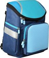 Upixel Super Class School Bag - Kinderrugzak - DIY Pixel Art - Marineblauw