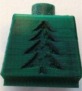 1.75mm kerstgroen ABS filament 1kg