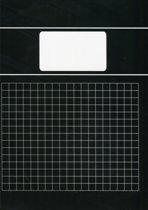 Benza - Basic Schriften Ruit 10 mm 1 cm A4 - Zwart - 5 stuks